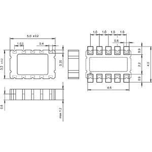 RTC-Modul SMD-Keramik 3,2x5x1,2mm I²C-Bus MICRO CRYSTAL RV-3029-C2-TA-QC-OPTION B.