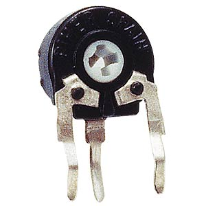 Setting potentiometer, vertical, 6mm, 100 K-Ohm PIHER PT6KH-104A2020