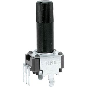 ALPS rotary potentiometer, linear, 6 mm, mono, 50 K, vertical ALPS 203314
