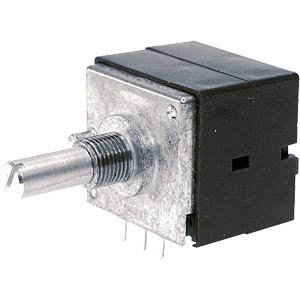 Drehpotentiometer, Stereo, 100 kOhm, linear, 6 mm ALPS 402179
