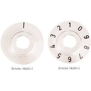 Numbered dial disc for KNOB 20... MENTOR 332.201