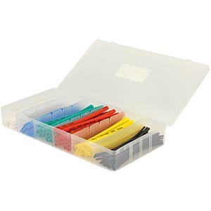Heat-shrink tubing assortment, 2:1, 10 cm, 100 pieces FREI