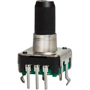 ALPS STEC12E rotary pulse encoder, 24/24, vert., w. PB ALPS 402097
