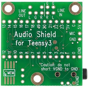 MicroSD and audio shield for the Teensy 3.x PJRC TEENSY AUDIO-SD