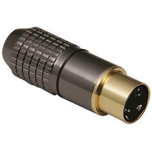 Mini-Din-Stecker - 4-pol, Metall,vergoldet BKL 0204018
