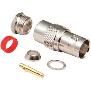 BNC jack, solder type, RG 58-U BKL 0401076-D