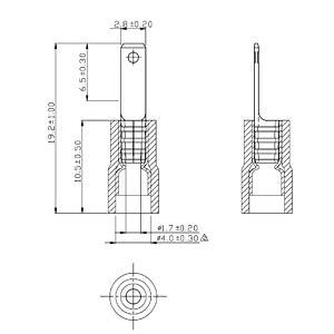 Blade terminal red 2.8x0.5mm RND CONNECT RND 465-00007