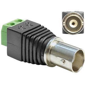 BNC socket > 2-pin terminal block DELOCK 65416