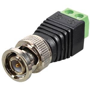 BNC > 2-pin terminal block adapter DELOCK 65323