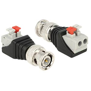BNC plug > 2-pin terminal block DELOCK 65525