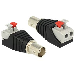 BNC socket > 2-pin terminal block DELOCK 65526