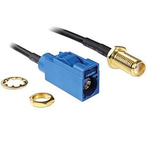 DELOCK 88581 - HF Antennenkabel FAKRA C Buchse > SMA Buchse zum Einbau RG-174 2