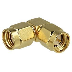RP-SMA socket > SMA plug 90° DELOCK 88826
