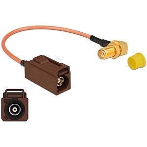 DELOCK 89684 - HF Antennenkabel FAKRA F Buchse > SMA Buchse 90° zum Einbau RG-3