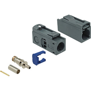 HF FAKRA G Buchse 25 mm (lang) zum Crimpen DELOCK 89691