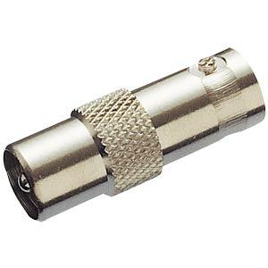 BNC-Adapter, BNC-Buchse / Koax-Stecker FREI