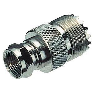 HF-Adapter, UHF-Buchse / F-Stecker FREI