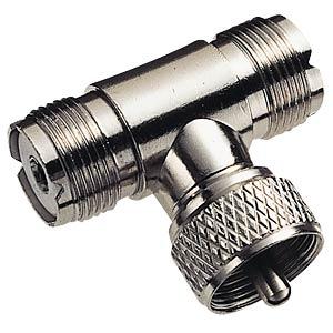 UHF T-piece, 2x PL258 socket/1xPL259 plug FREI