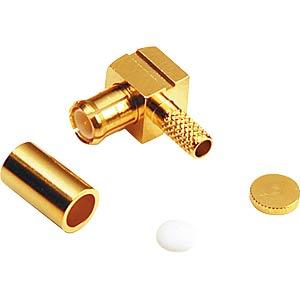 MCX crimp plug, angled, RG178/196 FREI