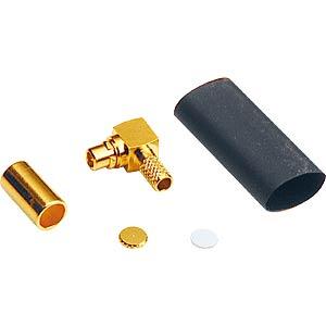 MMCX crimp plug, RG174/316, angled FREI