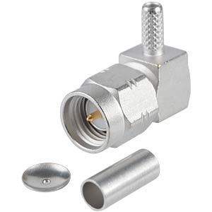 SMA-plug, RG174/316, angled, crimp RADIALL R124172120W