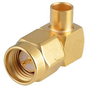 SMA-plug, RG402, angled, solderable RADIALL R125154000W
