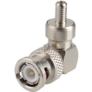 BNC-plug, RG58/141, angled, crimp RADIALL R141182000W