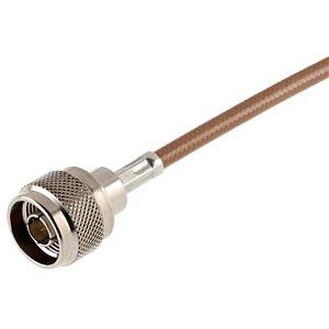 N-Stecker, RG58/141/142/223/400, gerade, Stopfbuchse RADIALL R161006000W