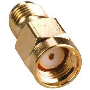SMA-REV adapt., SMA-REV plug to SMA-REV socket FREI