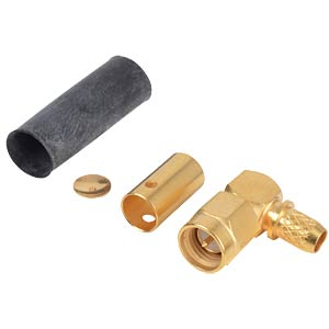 SMA plug, RG58/141, angled, crimp RADIALL R125 175 000