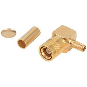 SMB plug, RG174/316/179, angled, crimp RADIALL R114 186 000