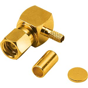 SMC crimp plug, gold-plated RG174/RG316 FREI