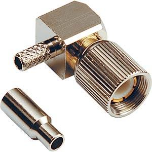 1.6/5.6 crimp plug, RG179/187, angled FREI