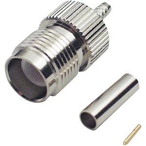 TNC reverse-crimp connector, RG58/141 FREI