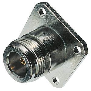 N panel socket, flange mounting, 50Ohm FREI