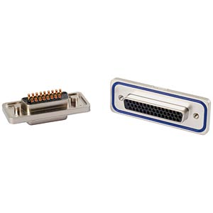 D-Sub 44-pin socket strip, high density, solder CONEC 15-000713
