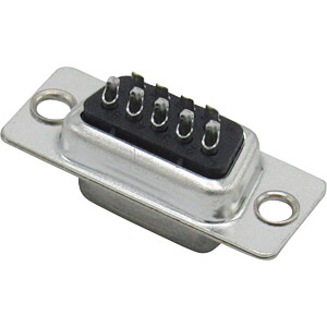 D-SUB female connector, 9-pin, solder cup RND CONNECT RND 205-00704