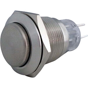 Anti-Vandal Push-Button Switch, Ø38,5/19 mm, 1 (CO) RND COMPONENTS RND 210-00396
