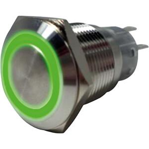 Anti-Vandal Push-Button Switch, Ø39,5/19 mm, green , 1 (CO) RND COMPONENTS RND 210-00400
