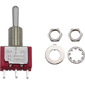 Miniatur-Kippschalter, 1x, Ein-Aus-Ein RND COMPONENTS RND 210-00440
