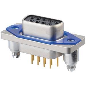 SlimCon D-Sub - Buchse, 9-pol, IP67, Lötstift CONEC 15-006493
