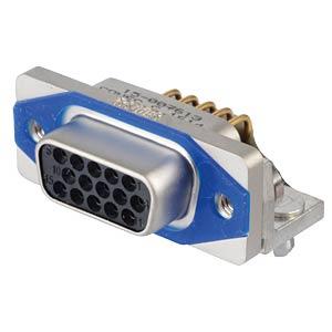SlimCon D-Sub - Buchse, 15-pol, HD, PCB-Clip CONEC 15-007613
