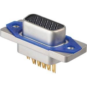 SlimCon D-Sub - Buchse, 15-pol, HD, Lötkelch CONEC 15-007673
