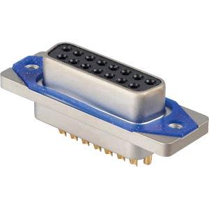 D-Sub  connector socket 15p IP67 Lötkelch CONEC 15-006403