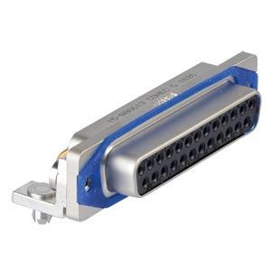 SlimCon D-Sub - Buchse, 25-pol, IP67, PCB-Clip CONEC 15-006613