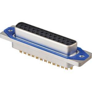 D-Sub  connector socket 25p IP67 Lötkelch CONEC 15-006413