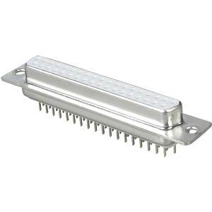 D-SUB socket, 37-pin, PCB design FREI
