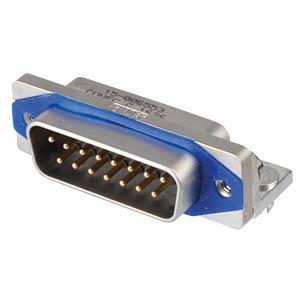 SlimCon D-Sub - Stift, 15-pol, IP67, PCB-Clip CONEC 15-006553