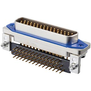 SlimCon D-Sub - Stift, 44-pol, HD, PCB-Clip CONEC 15-007663