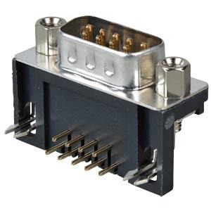 D-SUB-Stecker, 9-polig, gewinkelt, RM 2,77 FREI
